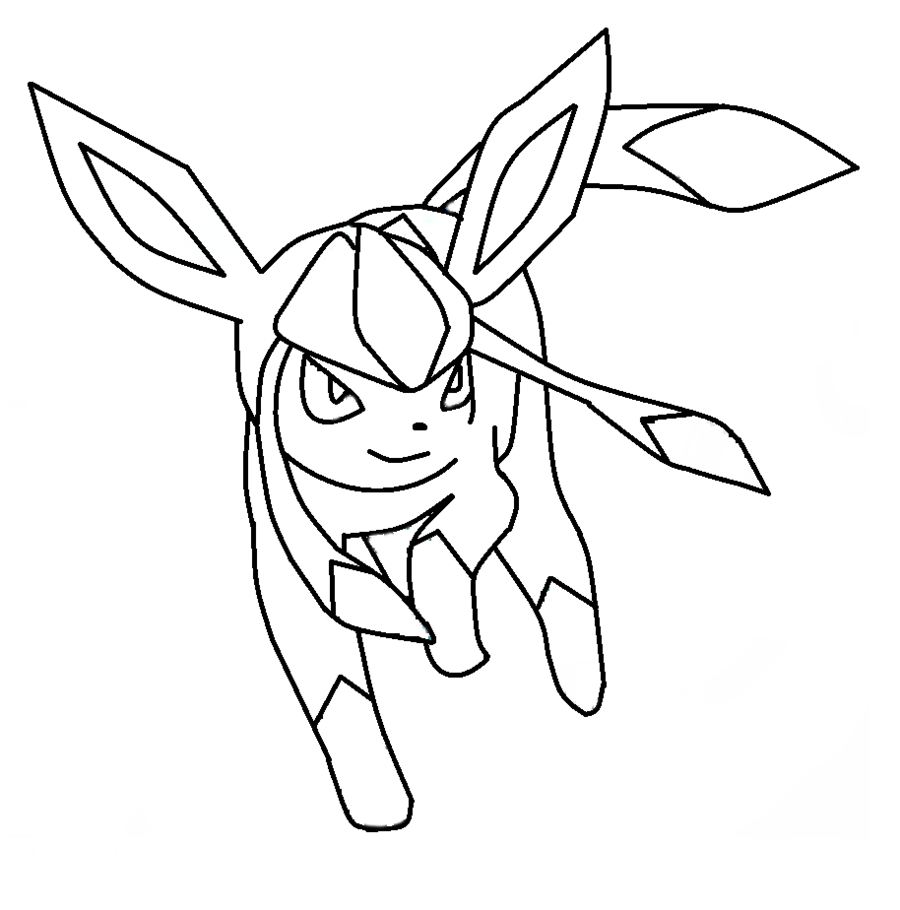Pokemon coloring pages eevee evolutions - Pokemon Eevee Evolutions Coloring Pages For Kids And For Adults