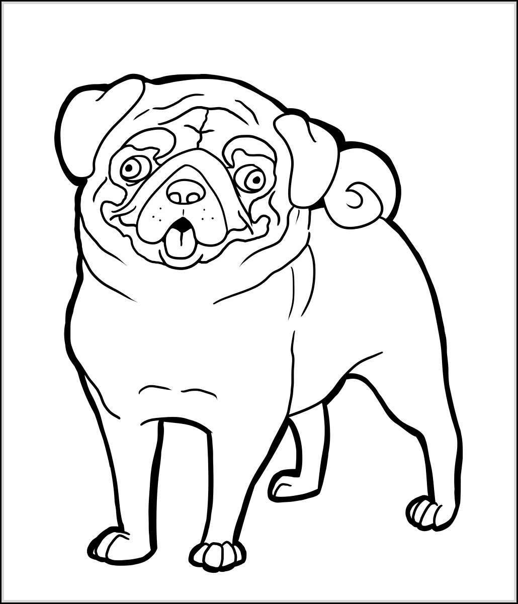 Pug To Print - Coloring Pages for Kids and for Adults
