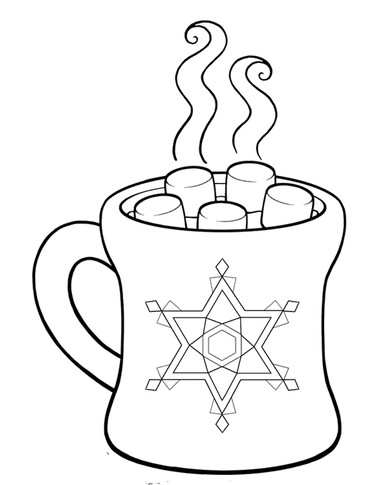 cocoa and cookies coloring pages - photo#10