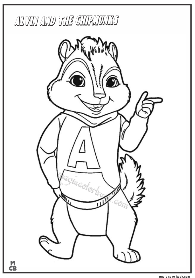 Alvin and chipmunks coloring page coloring home for Alvin coloring pages