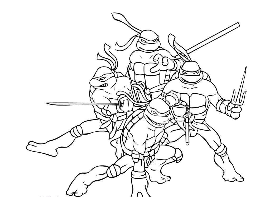 Printable Ninja Turtles Coloring Pages - Coloring Home