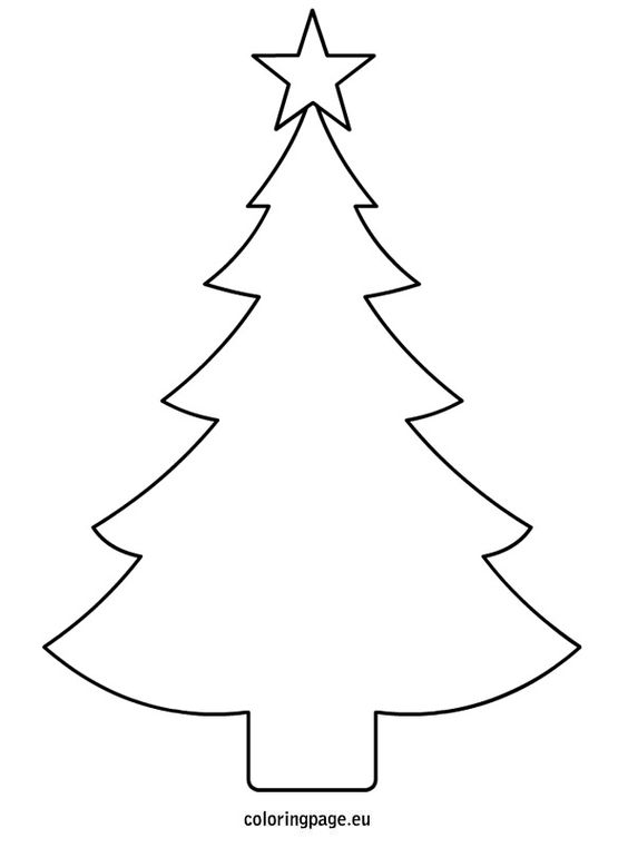 Christmas Tree Cutout Template - Coloring Home