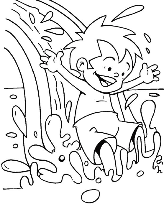 water splash coloring pages - photo#11