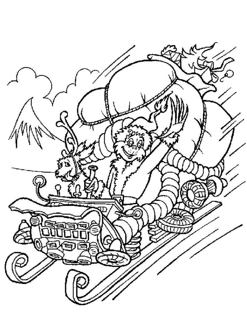 Coloring Pages Printabl Dr Seuss The Grinch Who Stole Christmas Coloring Home