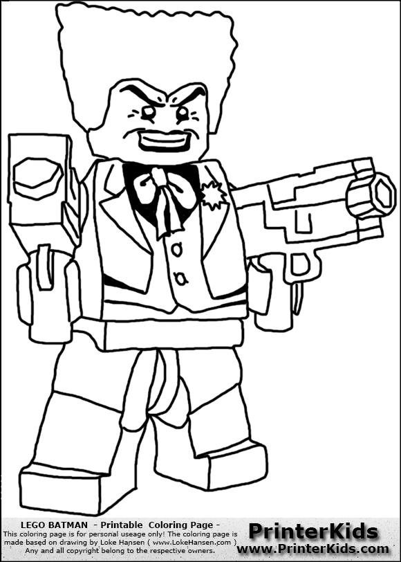 Lego Batman Joker coloring page
