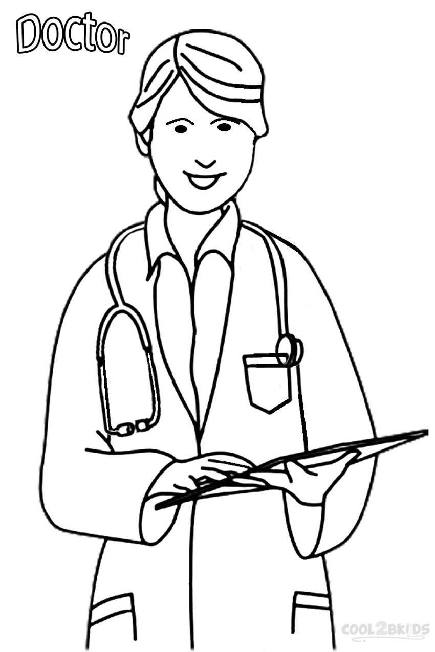 Community Helpers Coloring Pages Pdf : Doctor community helper coloring pages az
