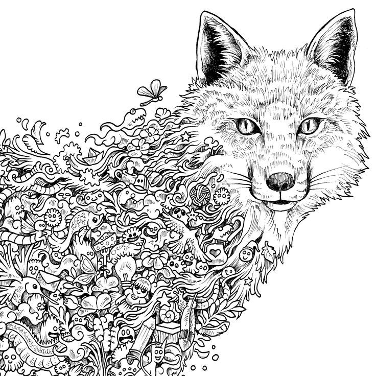 Coloring For Adults Animals : Adult Coloring Pages Animals Coloring Home