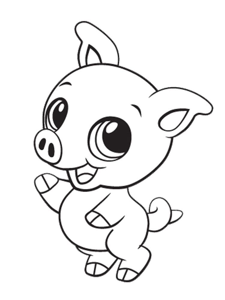 Of Cute Baby Animals Coloring Pages For Kids And For