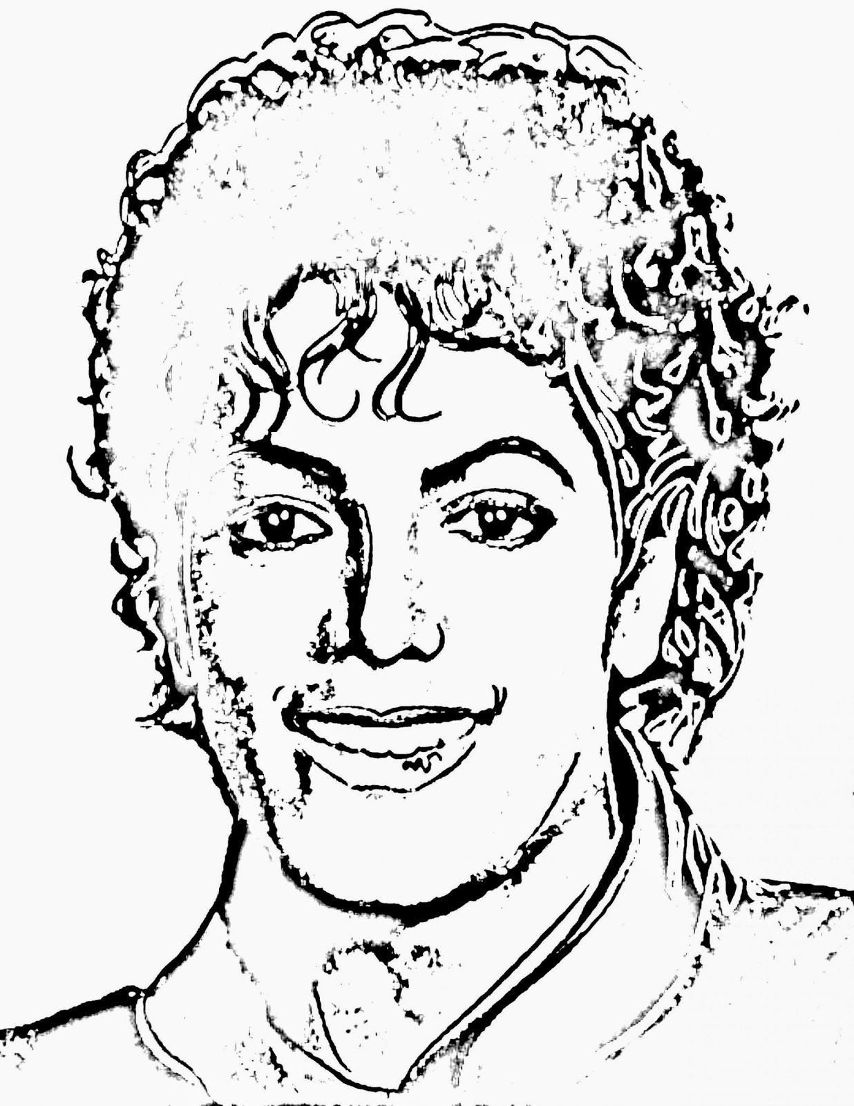 Printable Michael Jackson Coloring