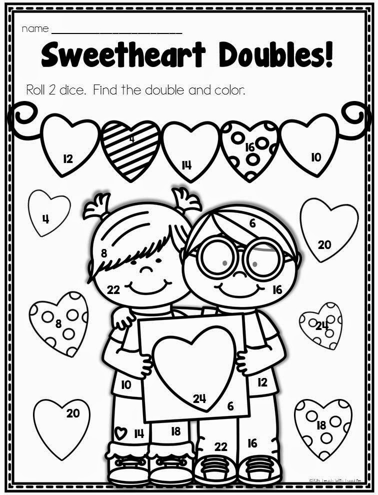 valentine coloring pages by numbers - photo #28