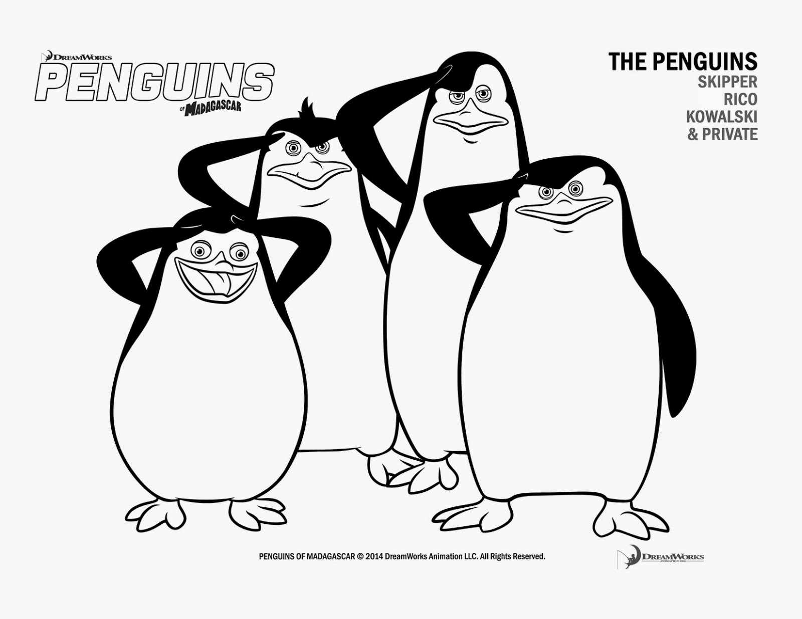 The Penguins Of Madagascar Coloring Pages - Coloring Home