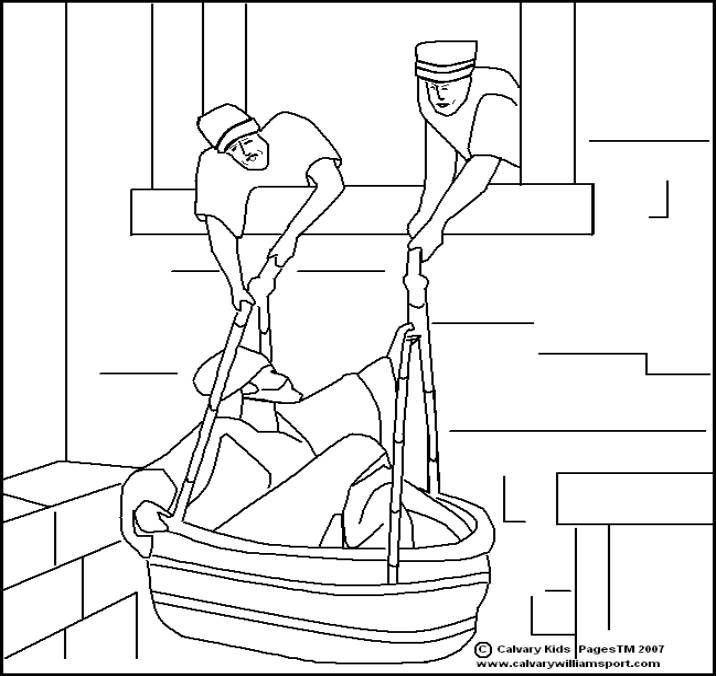 Paul And Silas In Jail Coloring Page