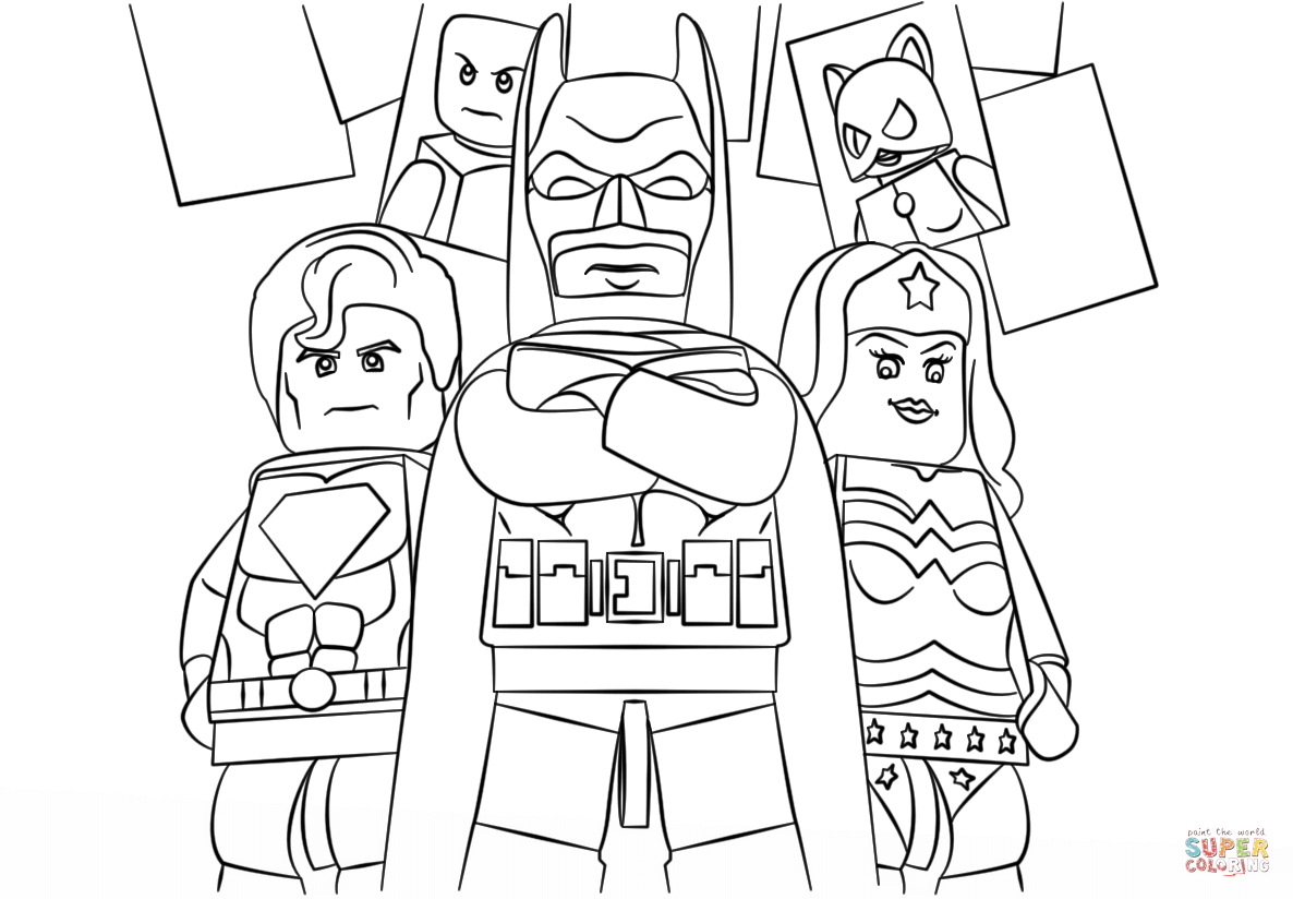 Lego Superheroes Coloring Pages Coloring Home