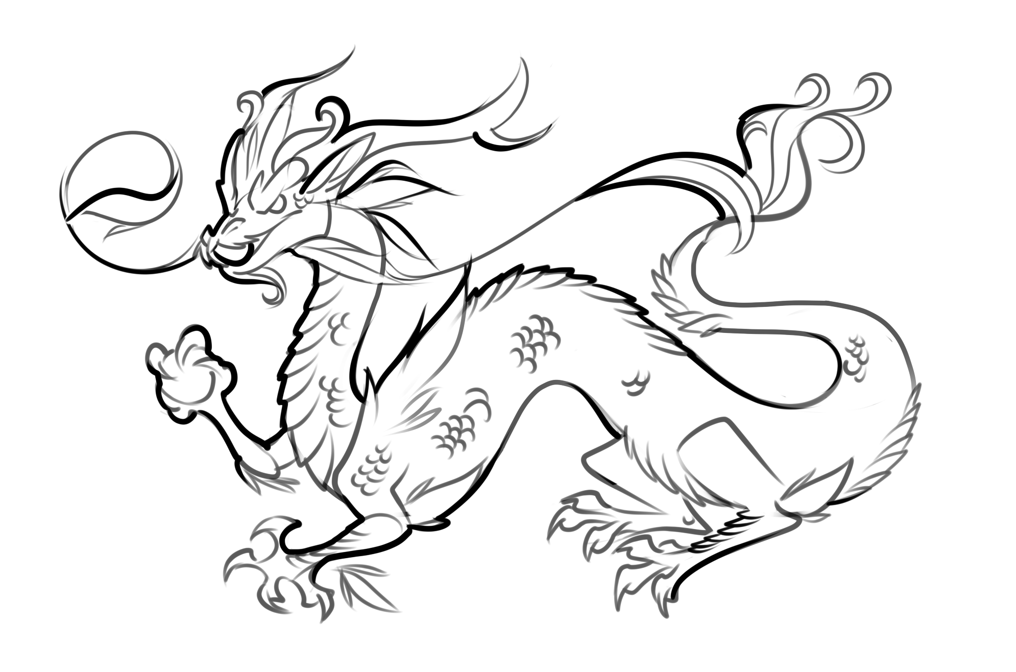 Free printable japanese coloring pages for adults - Free Printable Dragon Coloring Pages For Kids