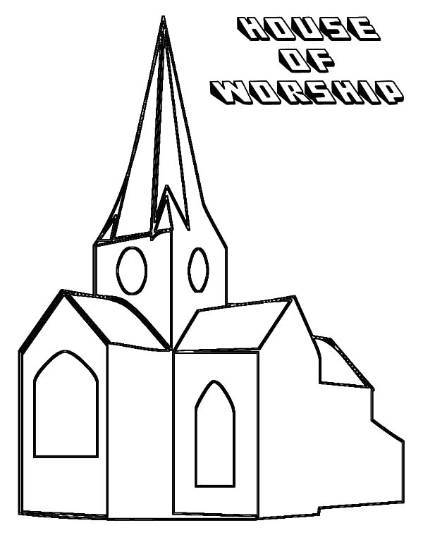 Church House Of Worship Coloring Pages : Best Place to Color