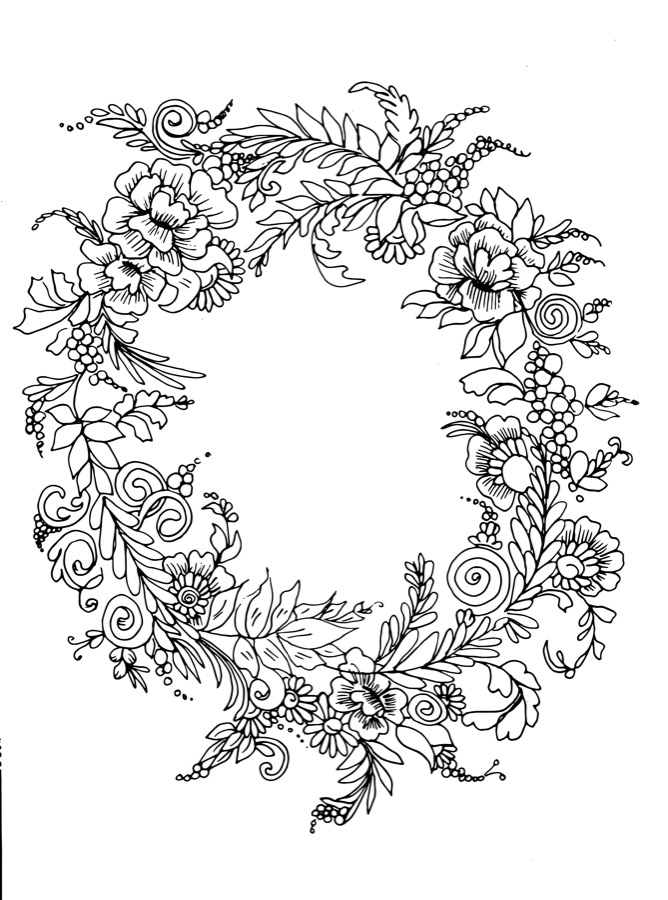 Free Flower Vectors Coloring Pages Download