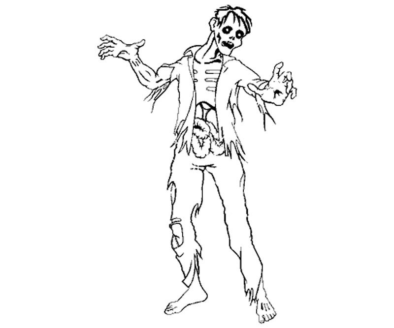 10 Pics Of Zombie Girl Coloring Pages Printables Zombie Coloring Coloring Home