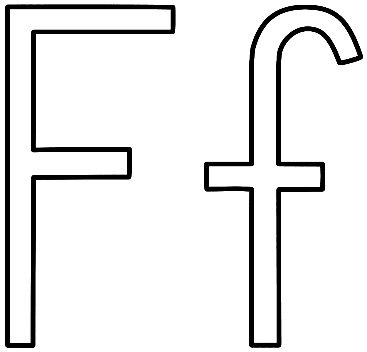 Letter F Coloring Page Alphabet Coloring Home