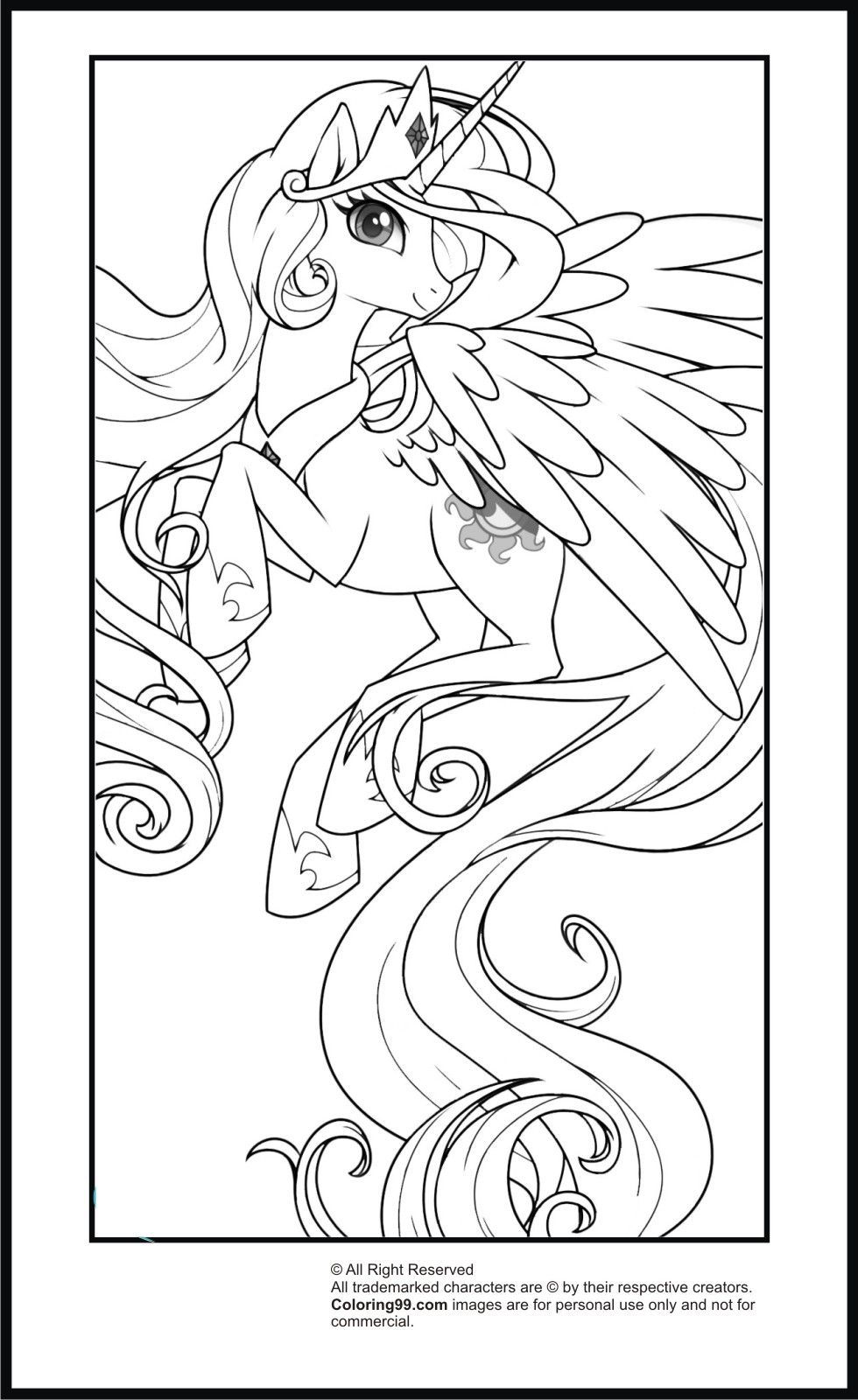 12 Pics of Celestia My Little Pony Coloring Pages - My Little Pony ...