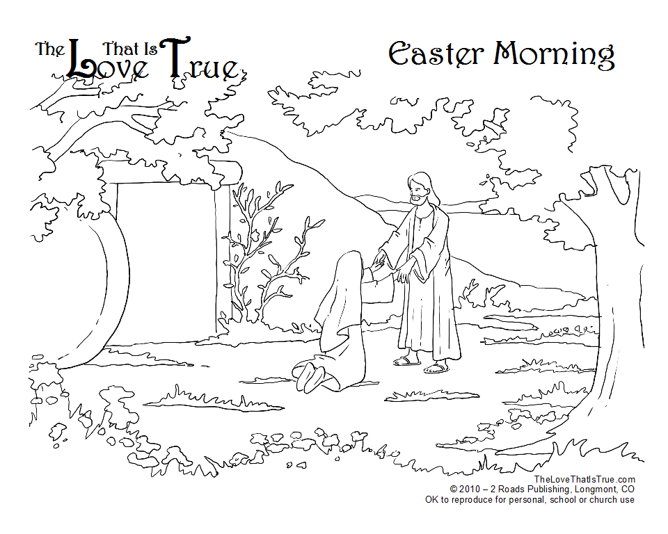Easter Coloring Pages For Sunday