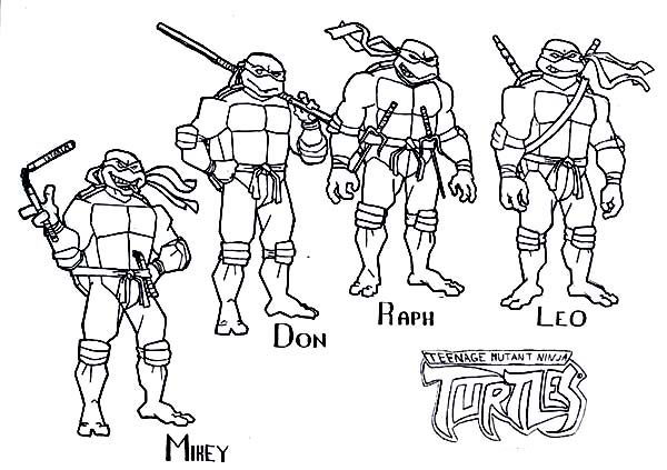 ninja turtles free coloring pages - photo#26