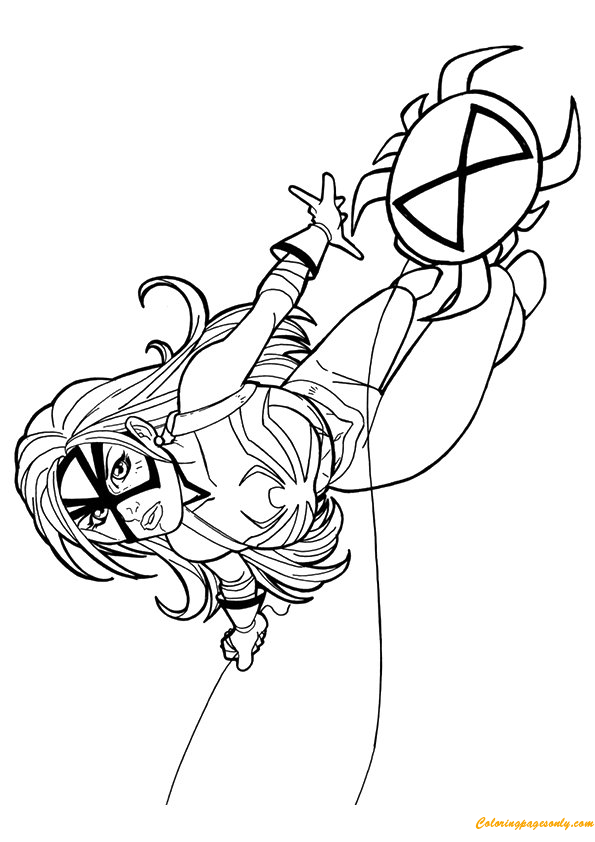 Spider Woman from Avengers Coloring Page - Free Coloring ...