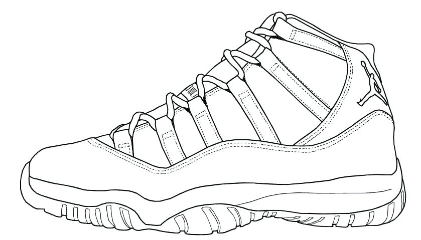 - Basketball Shoes Coloring Pages - Coloring Home