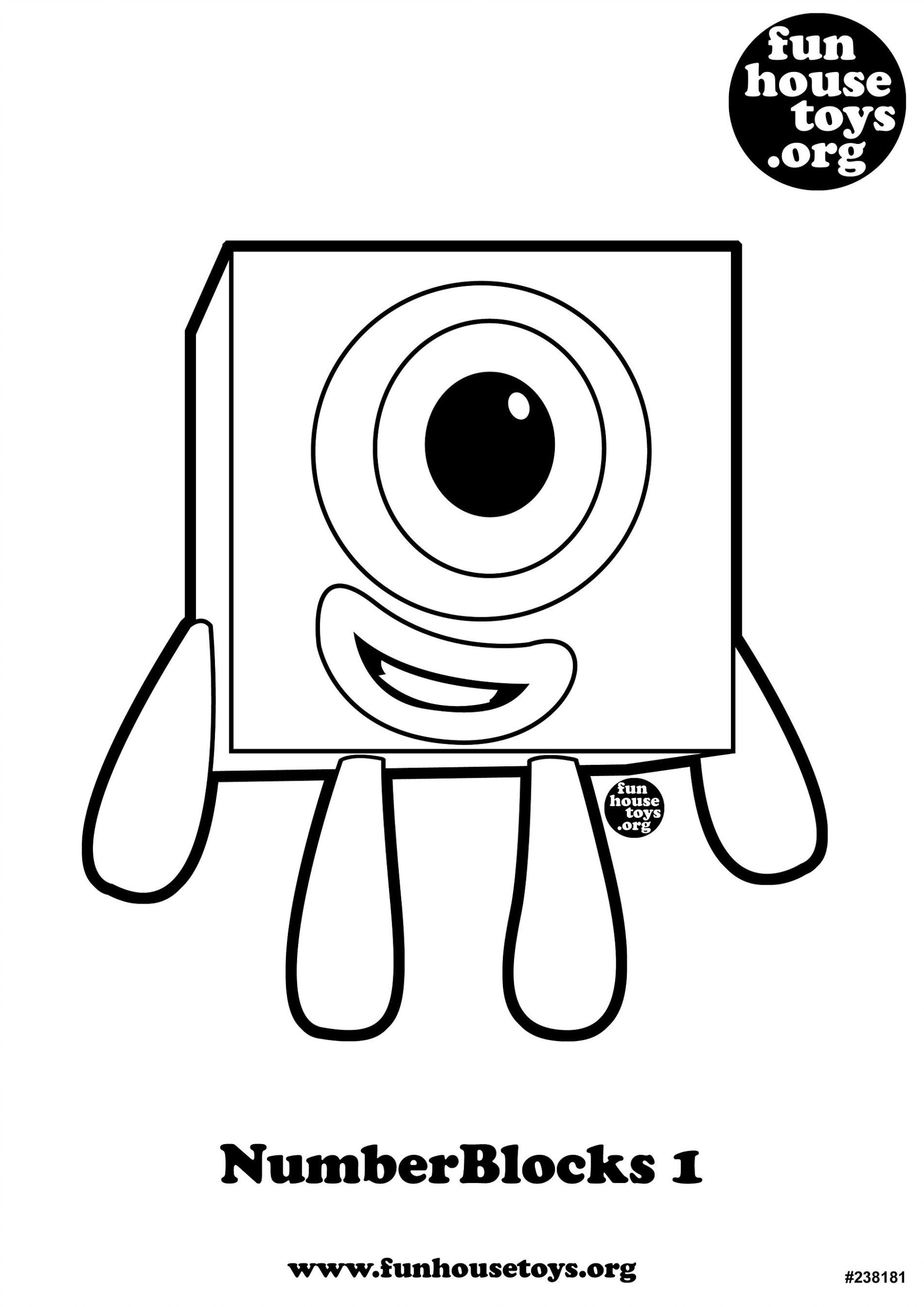 Coloring Pages  Fun House Toys Numberblocks Coloring For Kids ...