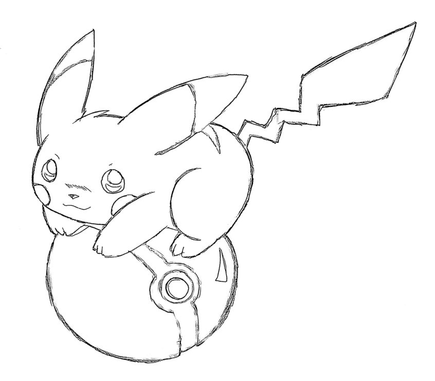 Top Coloring Pages: Free Pikachu Coloring For Kids ...