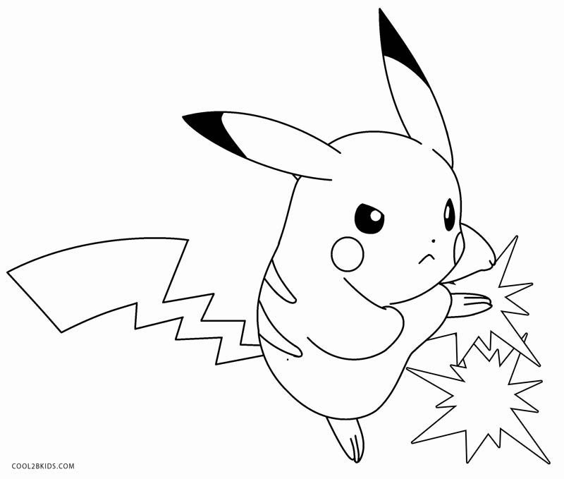 Printable Pikachu Coloring Pages For Kids | Cool2bKids ...
