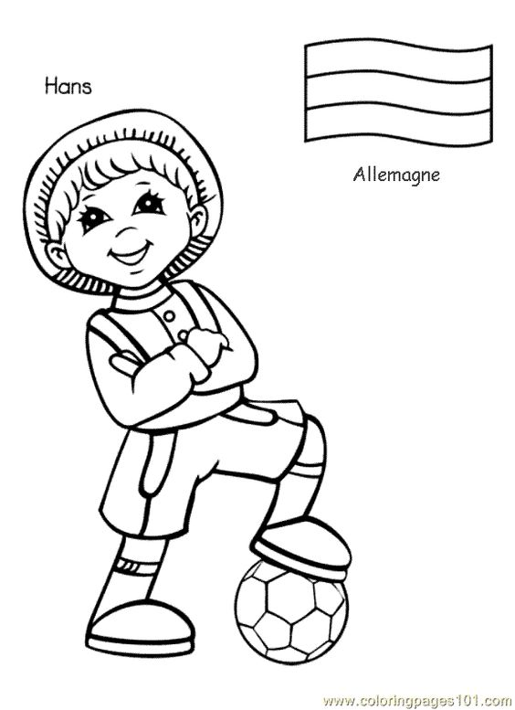 Kids Around The World Coloring Pages - CartoonRocks.com