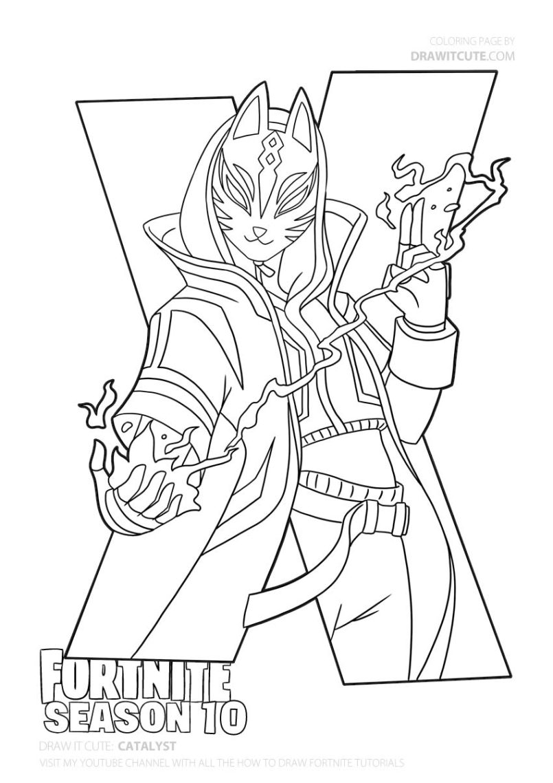 Coloring Pages : Hunting Rifle Fortnite Coloring Page Super ...