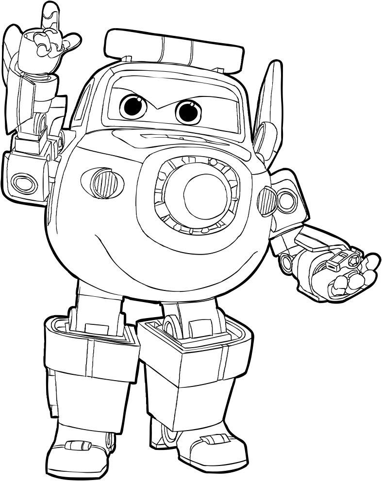Super Wings Coloring Pages - Coloring Home