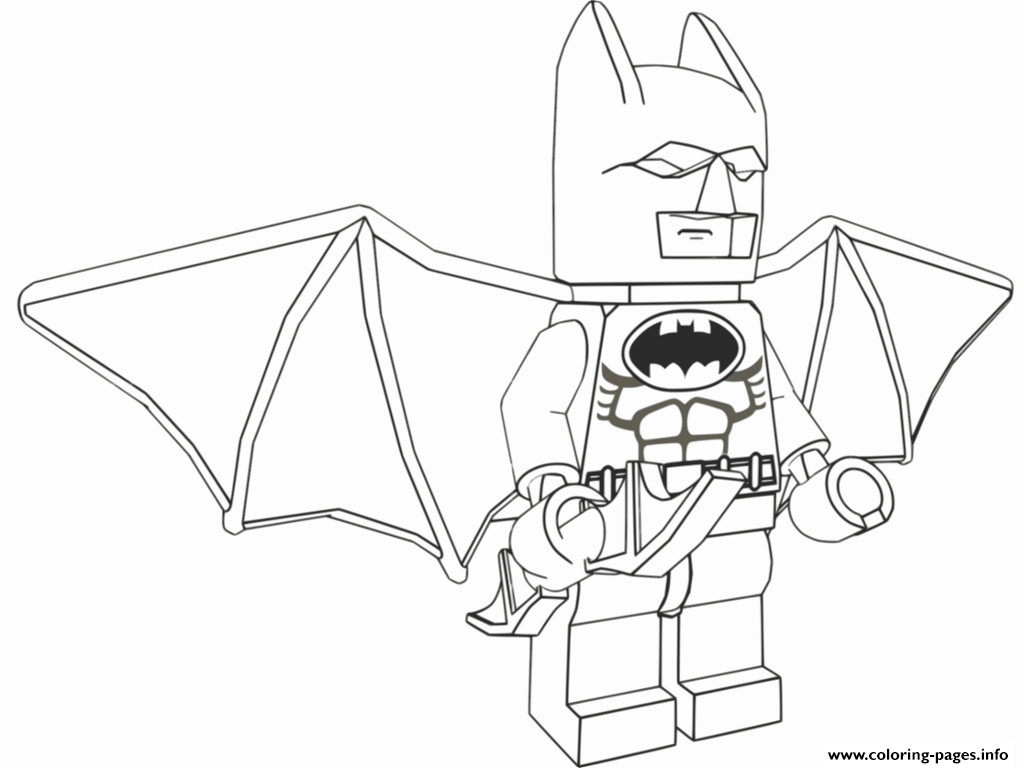 Print lego batman fly Coloring pages Free Printable