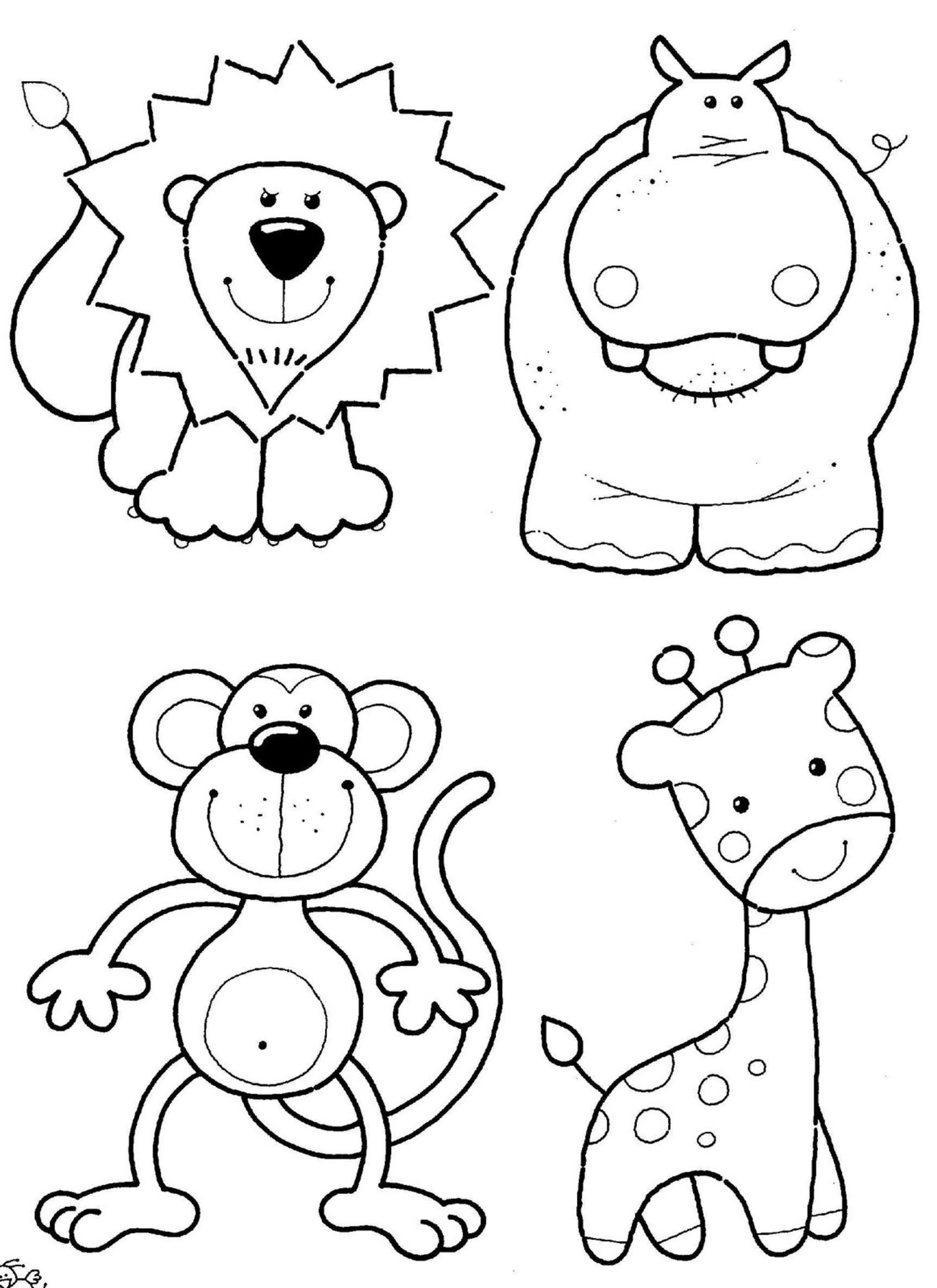 Cute Animals Coloring Pages Cute Zoo Animals Coloring Pages Zoo