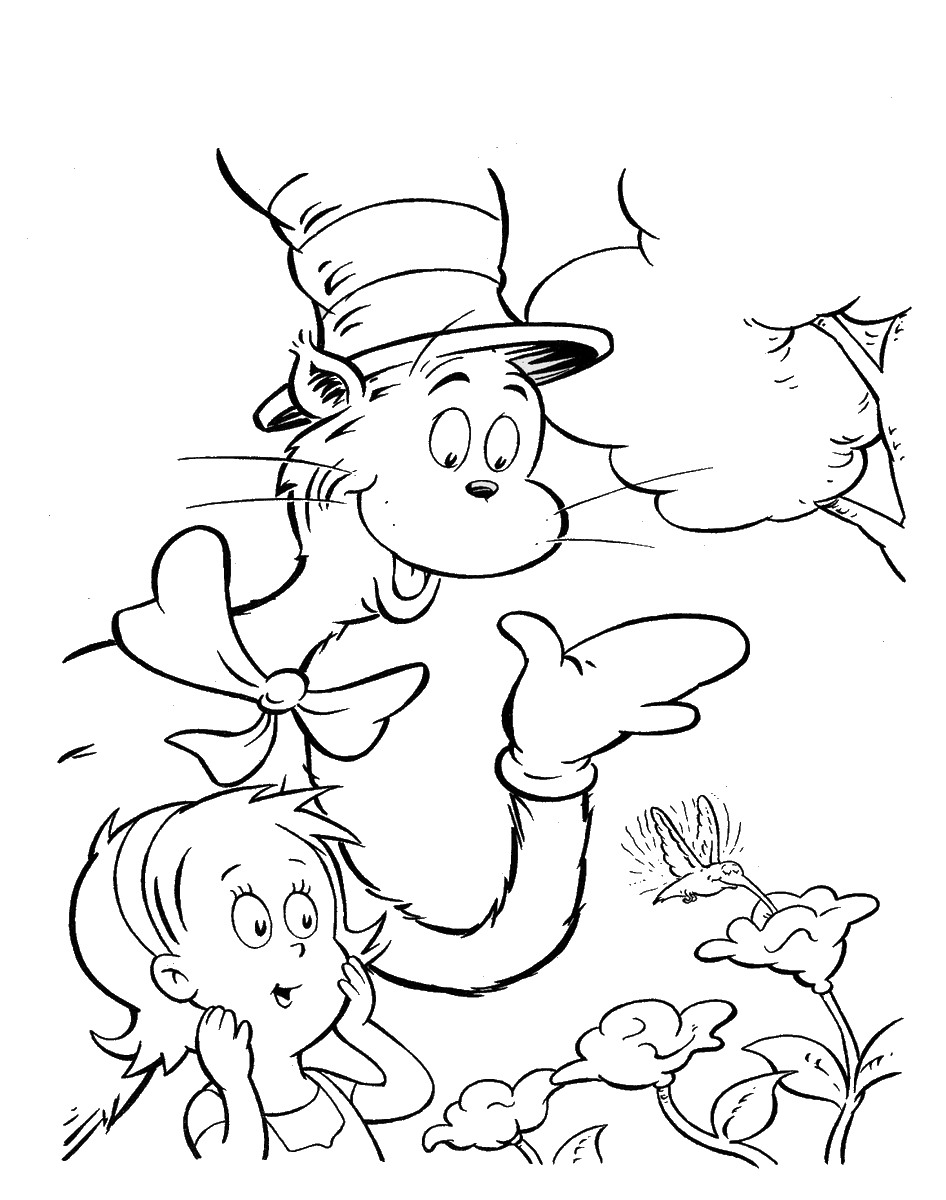 Cat In The Hat Pictures To Print - Coloring Home