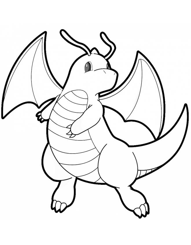 The Best Free Dragonite Coloring Page Images Download From Coloring Home