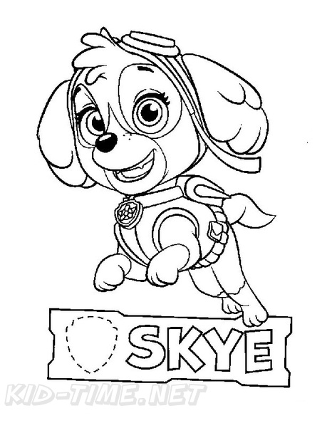 Skye Paw Patrol Coloring Book Page Free Coloring Book Pages - Coloring  Home