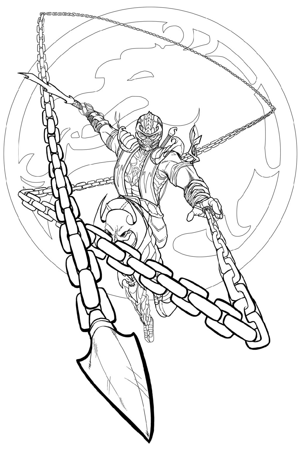 mortal kombat scorpion coloring pages coloring pages 2019 coloring home mortal kombat scorpion coloring pages