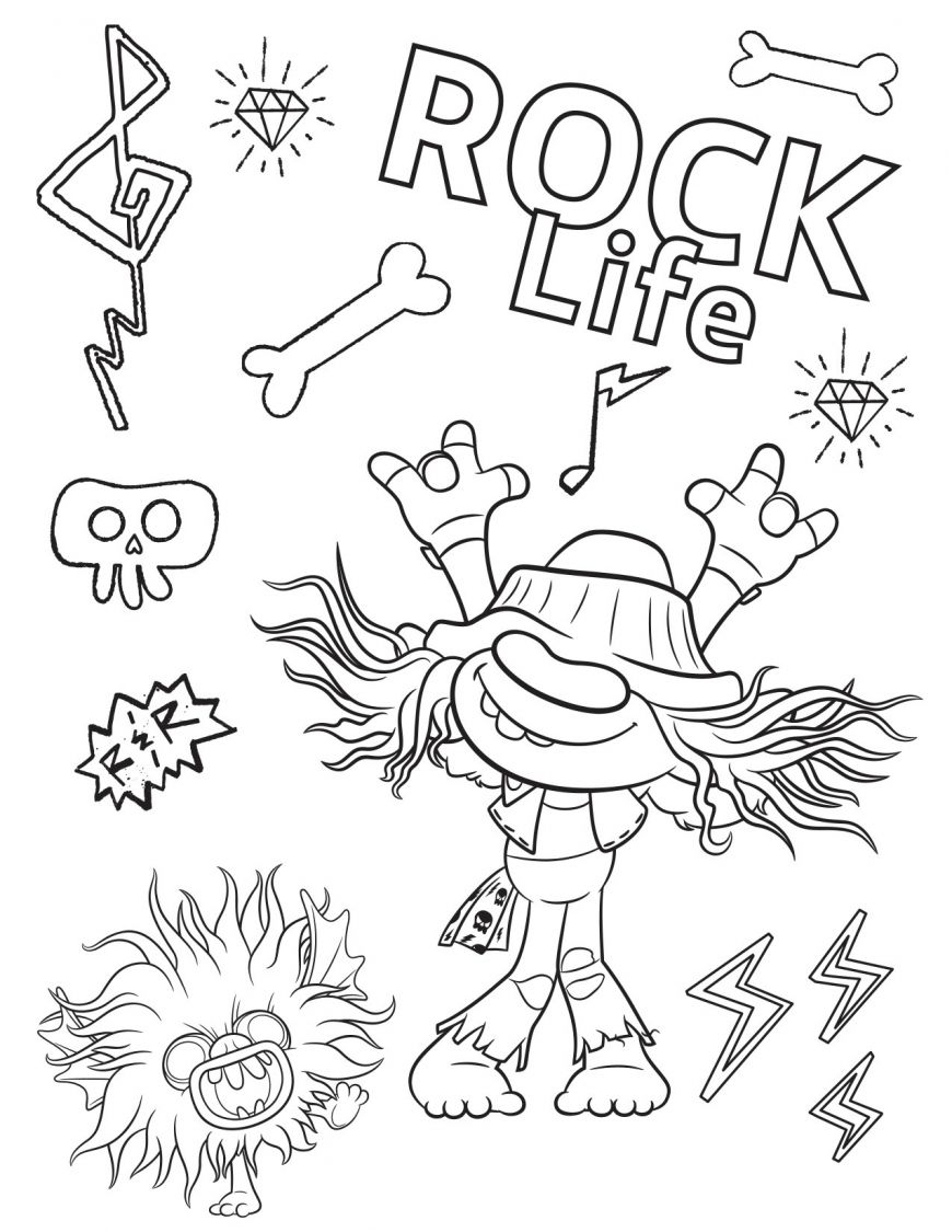 Trolls World Tour Coloring Pages In 18   Coloring Pages, Poppy ...