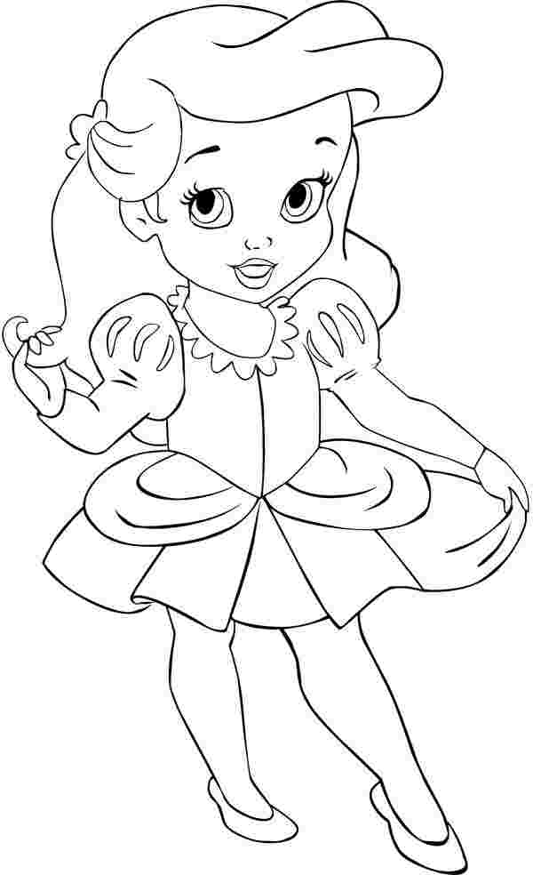 Printable Disney Baby Princess Coloring Pages Coloring Home