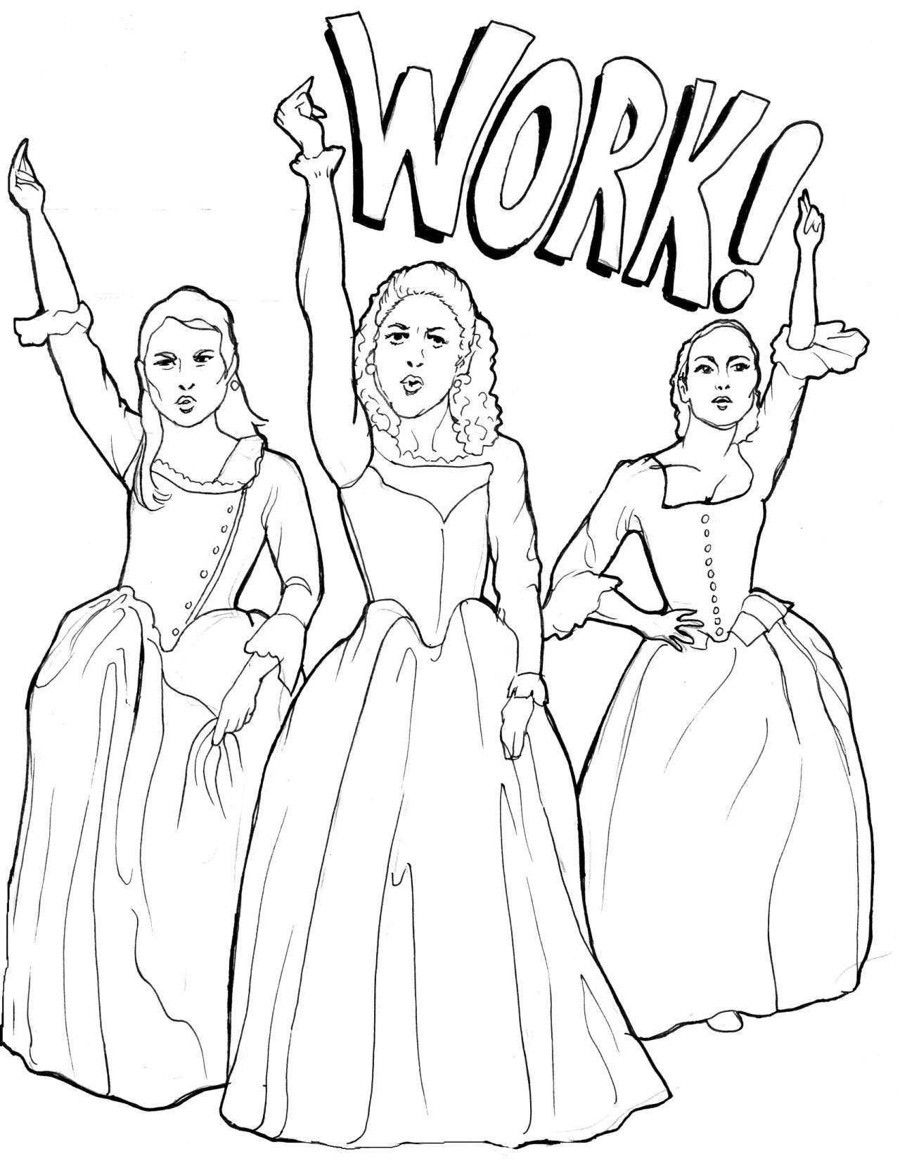 I made this Hamilton coloring book for a friend's birthday. Feel free to  use it! : hamiltonmusical