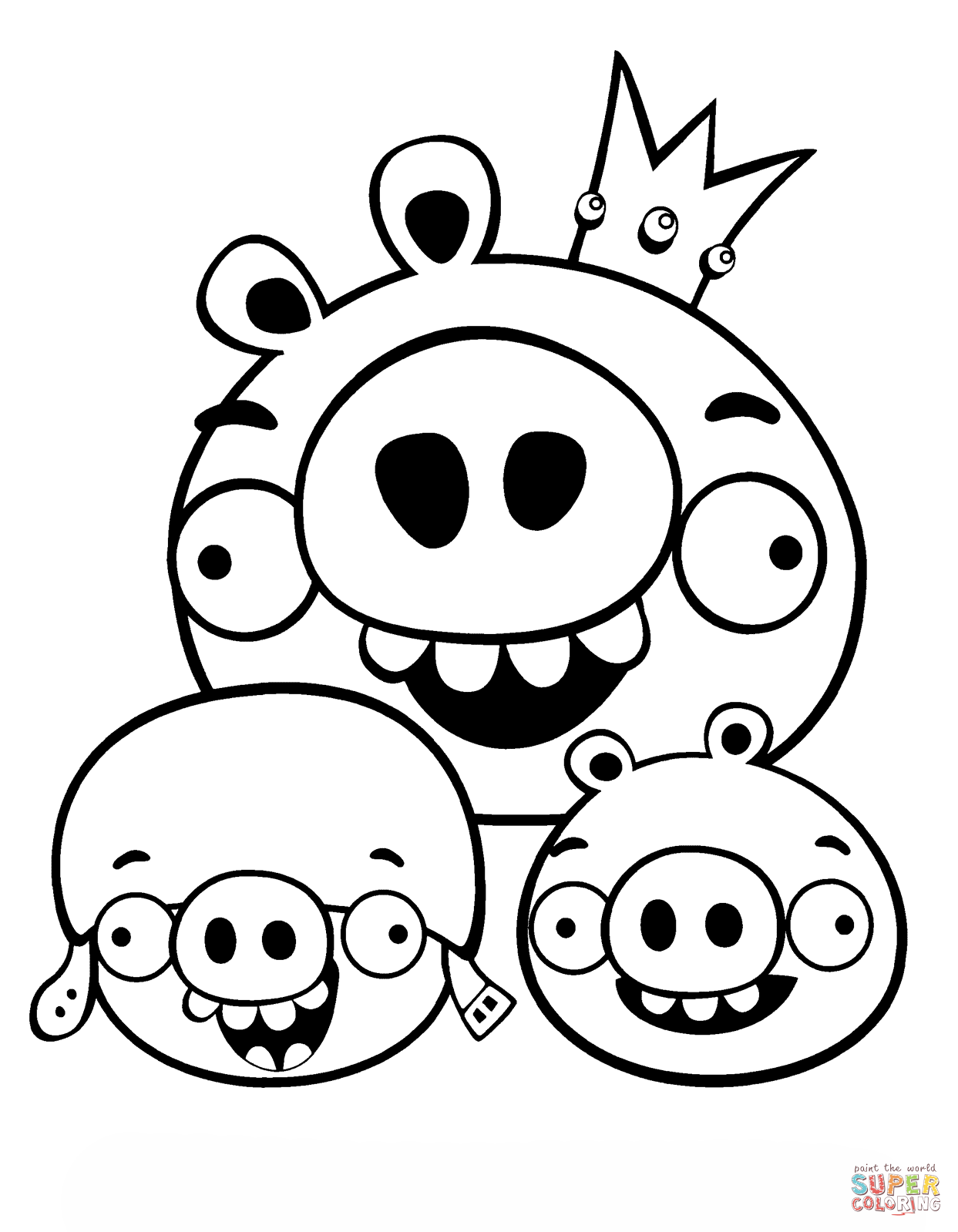 Minion halloween coloring pages printable - King Pig And Minion Coloring Page Free Printable Coloring Pages
