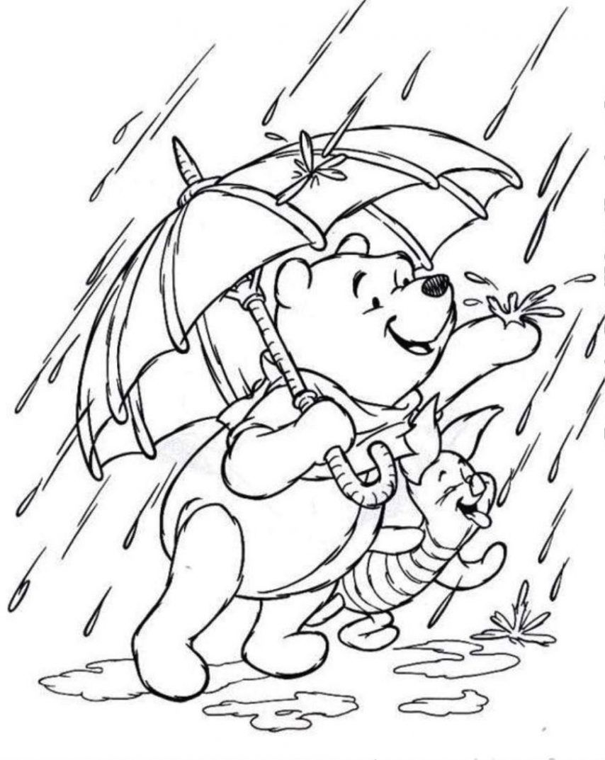 Coloring Pages Rainy Day Coloring