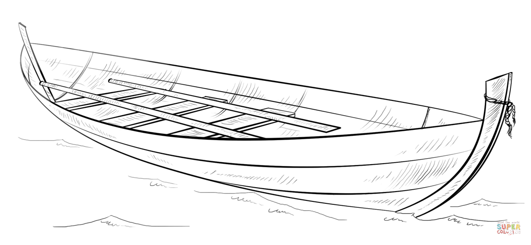 Row row row your boat coloring page coloring home for How to draw a fishing boat