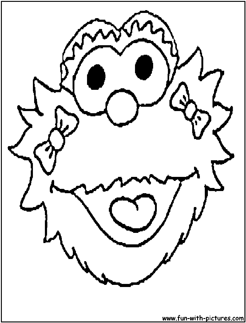 zoe sesame street coloring pages - photo#9