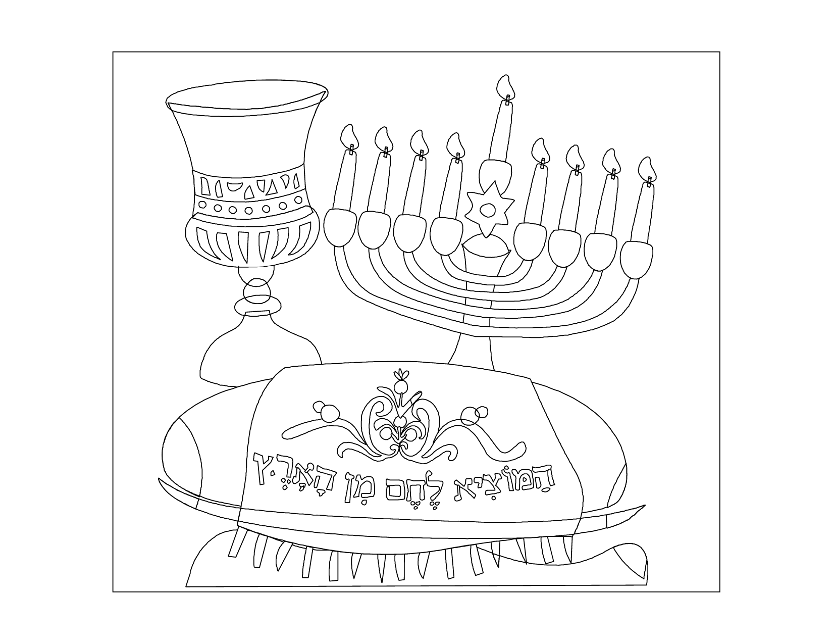 chanukah story coloring pages | Hanukkah Story And Coloring Page - Coloring Home