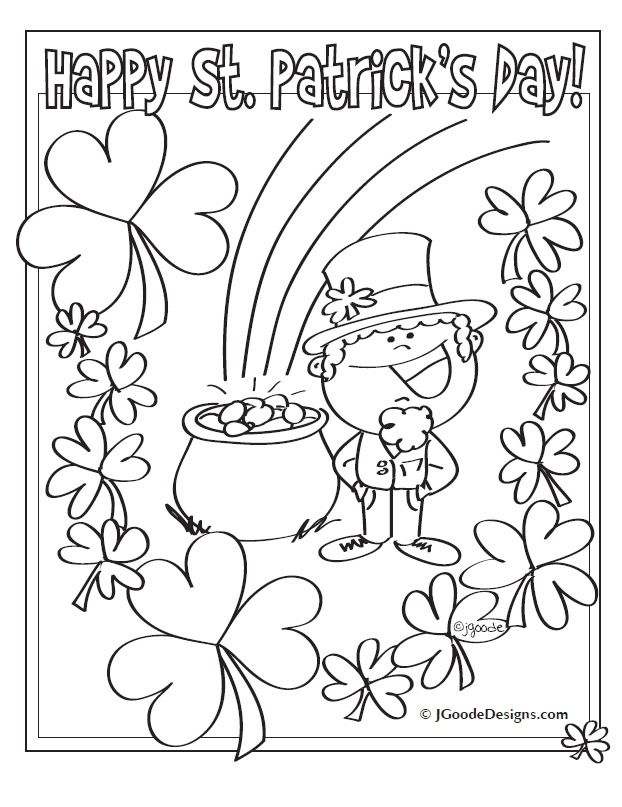 Printable Coloring Pages St Patricks Day Coloring Pages