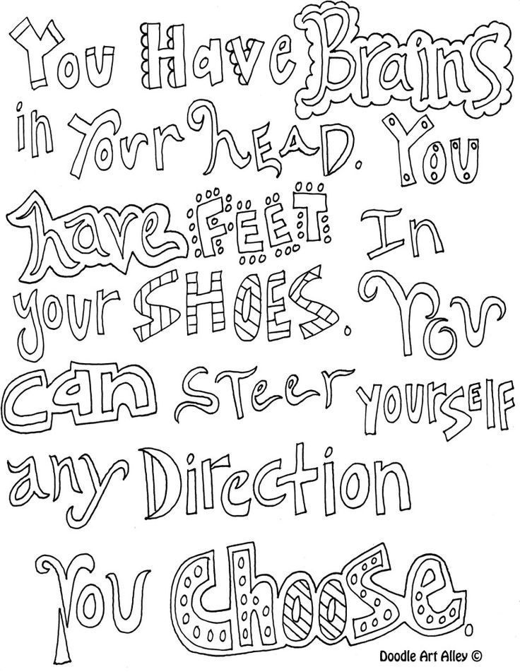 Coloring Pages Quotes : Quote coloring pages printable home