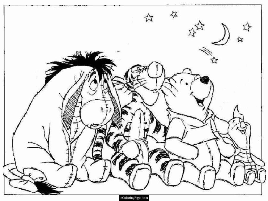 Winnie The Pooh Eeyore Tigger Piglet Printable Coloring Page ...